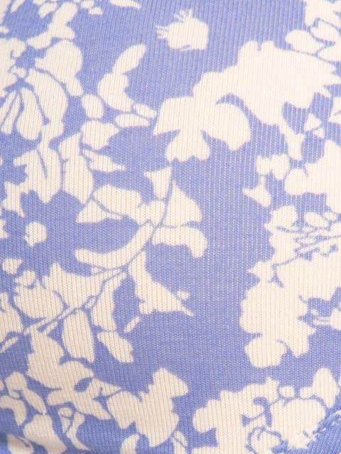 Iris Blue Printed Non-wired Padded Bra