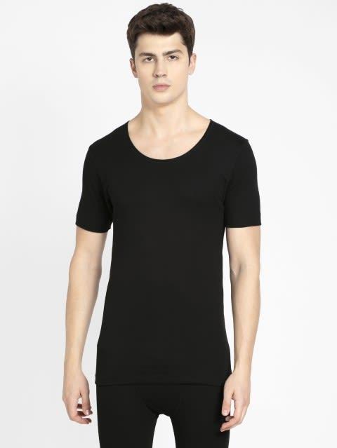 Black Thermal Short Sleeve Vest