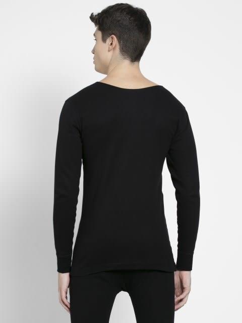 Black Thermal Long Sleeve Vest