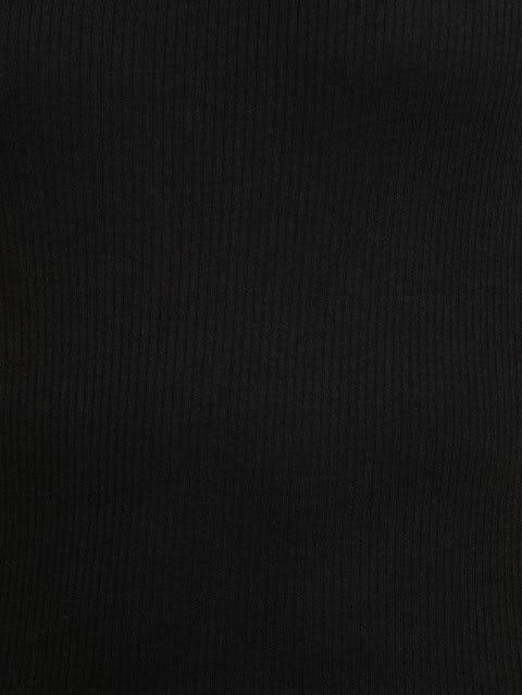 Black Thermal Spaghetti Top