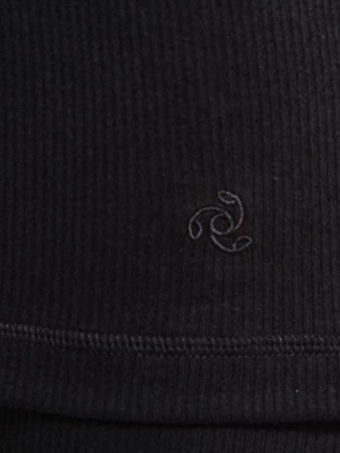 Black Thermal 3 quarter Sleeve Top