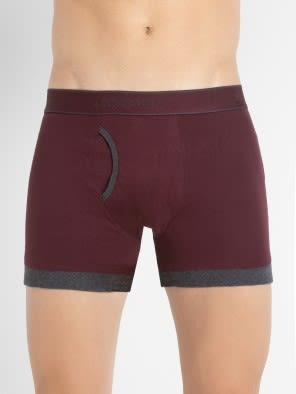 Mauve Wine & Charcoal Melange Boxer Brief