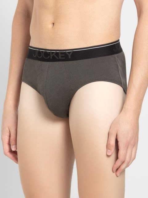 Deep Olive Square Cut Brief Pack of 2