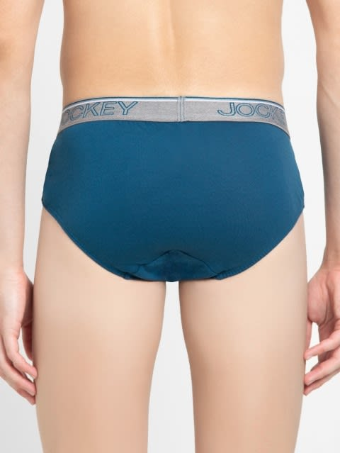 Seaport Teal Square Cut Brief Pack of 2
