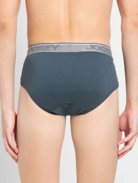 Deep Slate Square Cut Brief Pack of 2