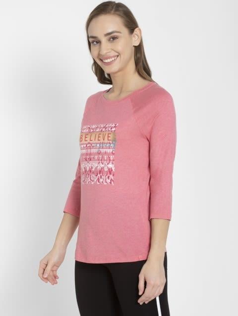 CamRose Melange Three Quarter Sleeve T-Shirt