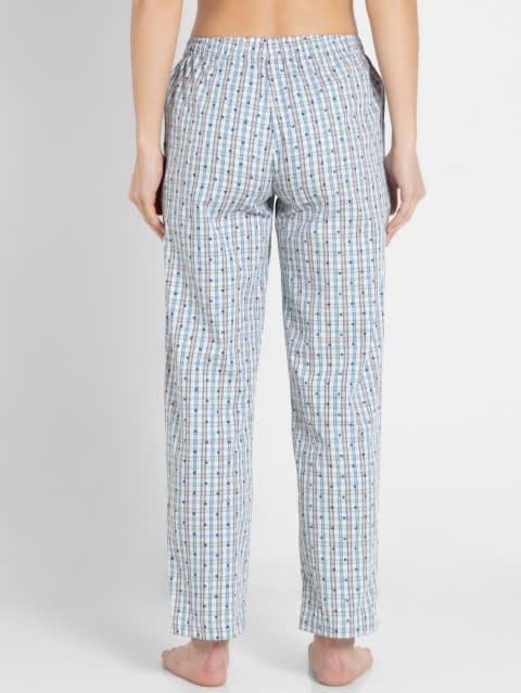Vapour Blue Assorted Checks Long Pant
