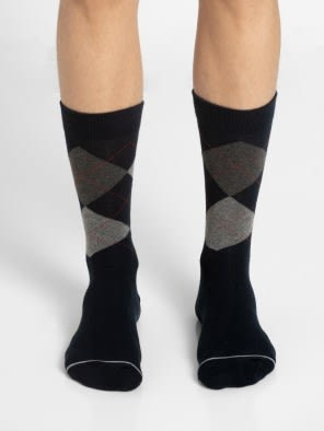 Navy - Half Boy Men Casual Socks