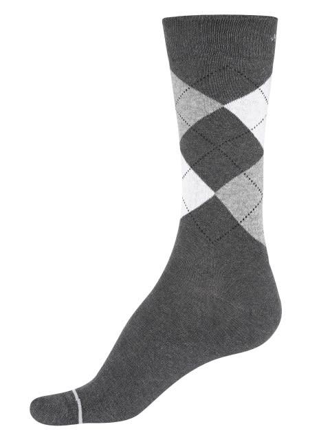 Charcoal Melange - Angle Motif Men Calf Length Socks
