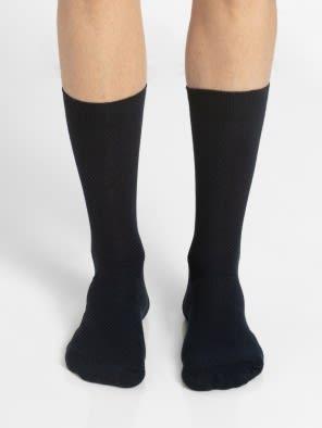 Navy Des1 Calf Length Socks