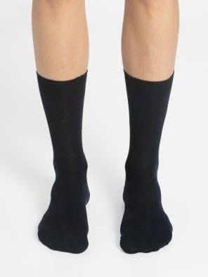 Navy Des2 Calf Length Socks
