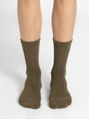 Olive Men Crew Socks