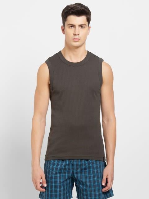 Deep Olive Gym Vest