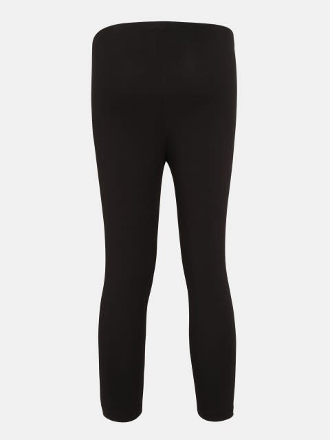 Black Three Quarter Girls Legging