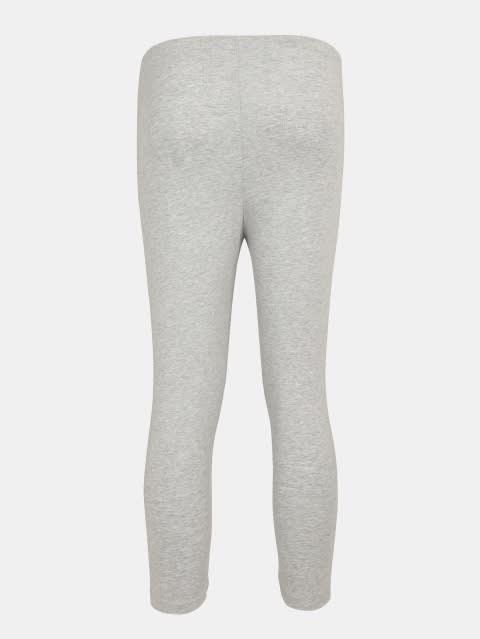 Light Grey Melange Three Quarter Girls Legging