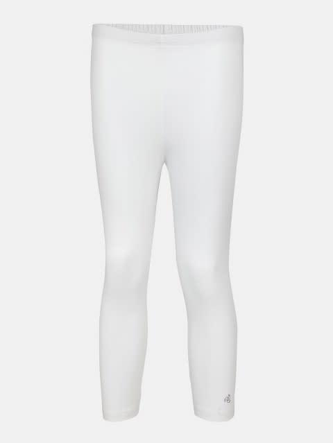 White Three Quarter Girls Legging