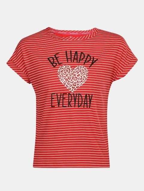 Rio Red Printed Girls T-Shirt