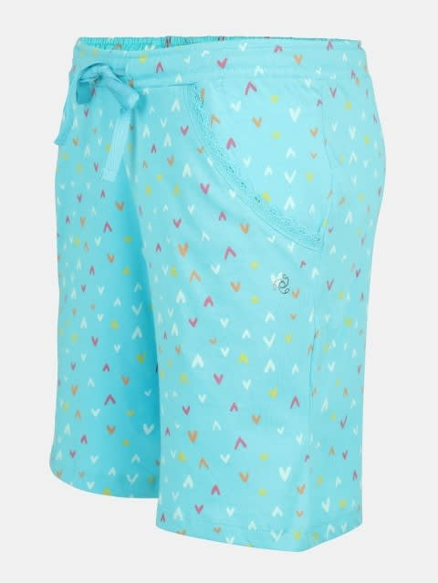Blue Curacao Printed Shorts