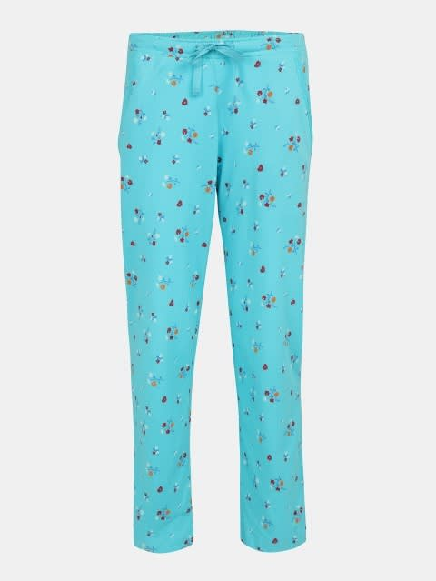 Blue Curacao Printed Pyjama