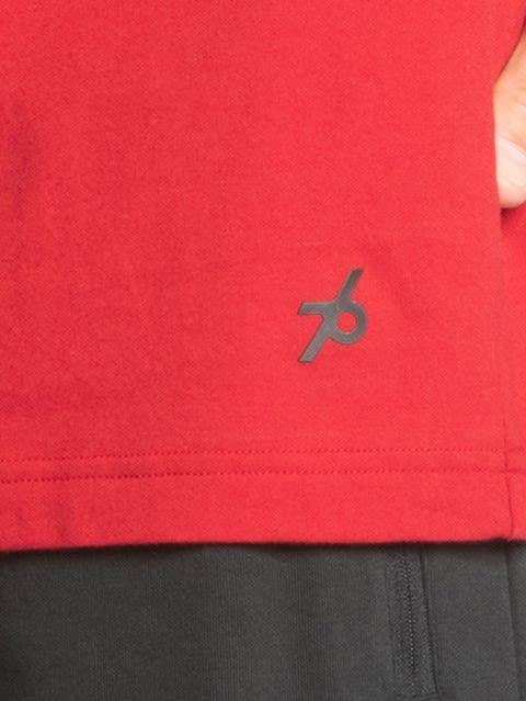 Shanghai Red Printed Muscle Tee