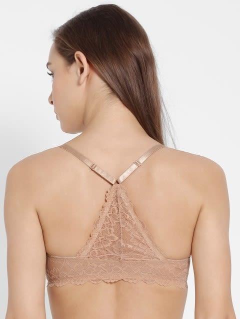 Light Skin Low neckline front opening bra