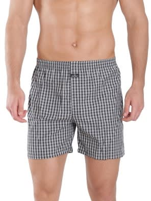 Light Assorted Checks Boxer Shorts Pack of 2
