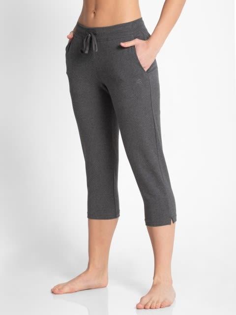 Charcoal Melange Capri Pants
