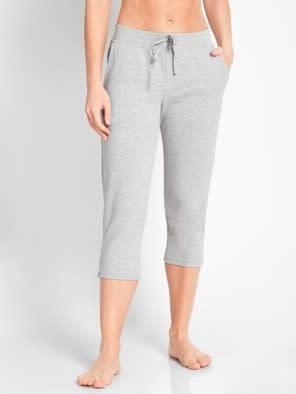 Light Grey Melange Capri Pants