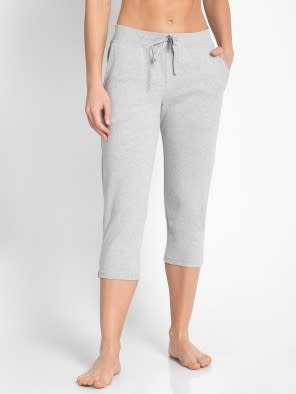 Light Grey Melange Capri Pants