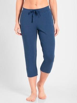 Vintage Denim Melange Capri Pants
