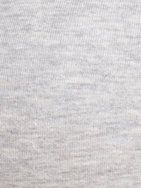 Light Grey Melange Slip On Active Bra