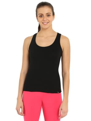 Black Racerback Tank Top