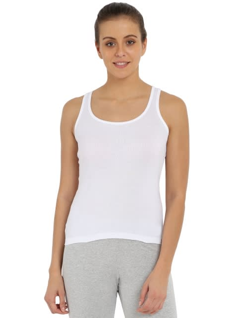 White Racerback Tank Top