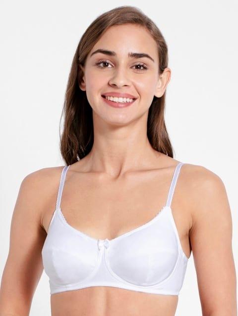 White Slim Fit Bra