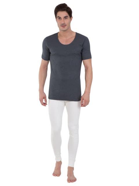 Charcoal Melange Thermal Short Sleeve Vest