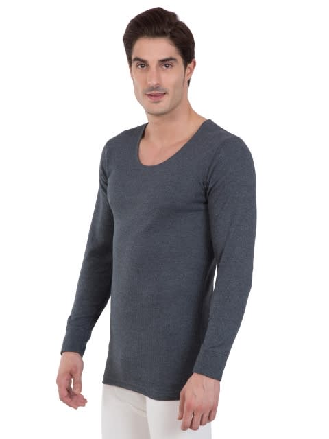 Charcoal Melange Thermal Long Sleeve Vest