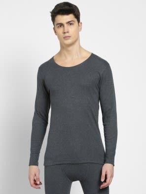 Charcoal Melange Thermal Long Sleeve Vest