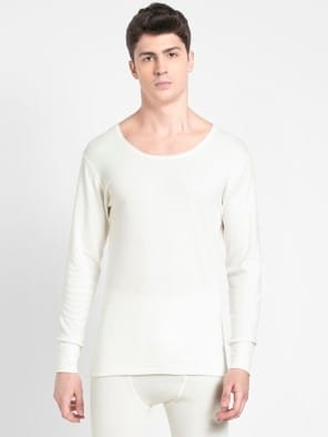 Off White Thermal Long Sleeve Vest
