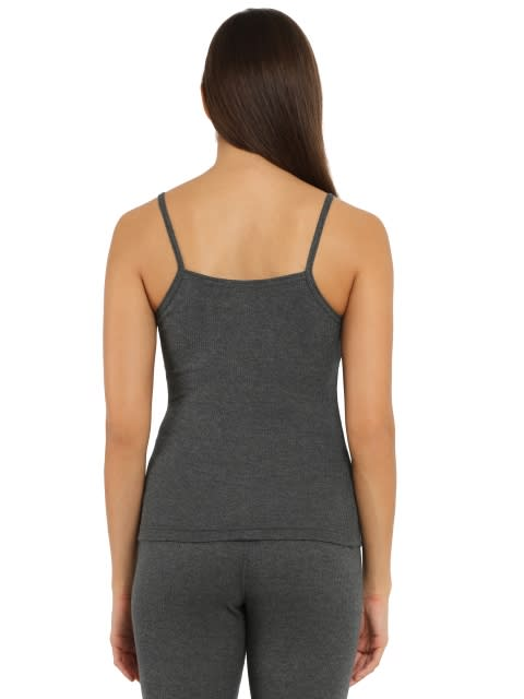 Charcoal Melange Thermal Spaghetti Top