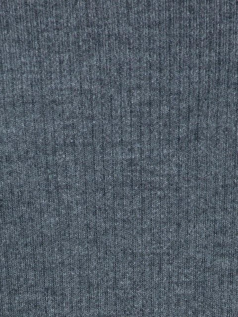 Charcoal Melange Thermal 3 quarter Sleeve Top