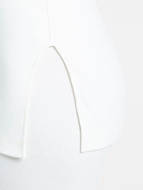 Off White Thermal 3 quarter Sleeve Top
