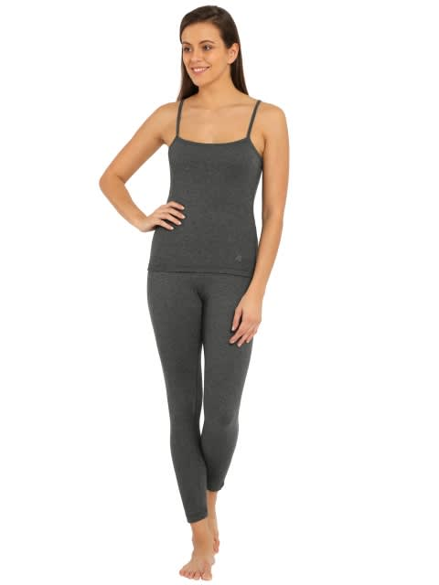 Charcoal Melange Thermal Leggings