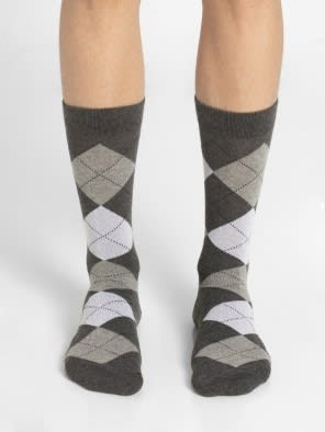 Charcoal Melange - Half Boy Men Casual Socks