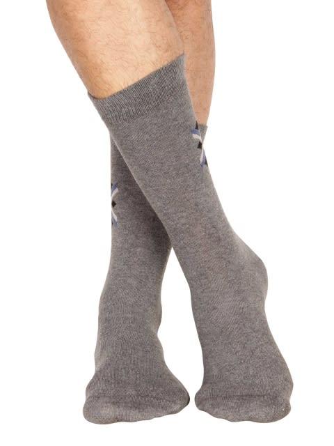 Charcoal Melange Men Calf Length Socks