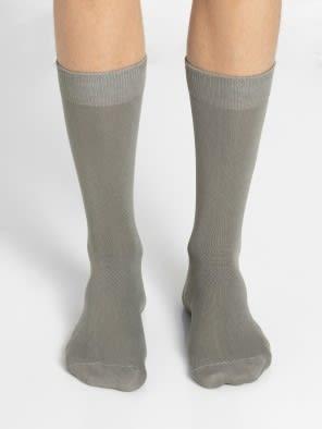 Grey Melange Men Calf Length Socks