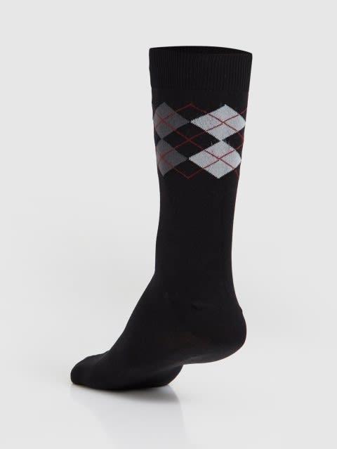 Black Men Calf Length Socks