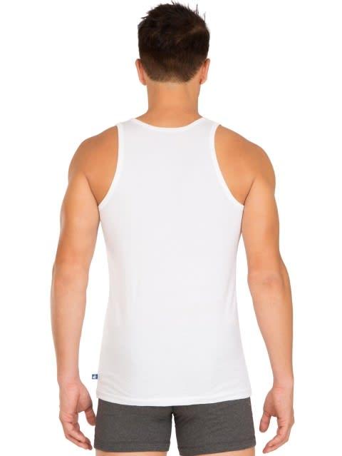 White Basic Undershirt Pack of 2