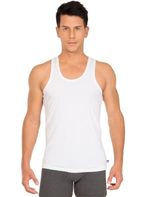 White Basic Undershirt Pack of 2