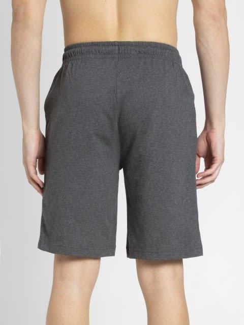 Charcoal Melange & Shanghai Red Knit Sport Shorts