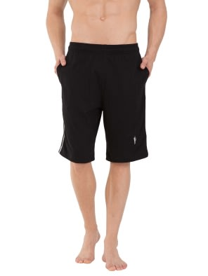 Black Knit Sport Shorts